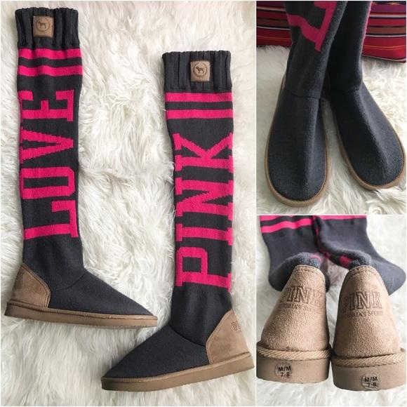 de176a9df7 VICTORIAS SECRET PINK Rare MUKLUKS Love Sock Boot.  M 5ae4e9c3a6e3ea6c0e1fd08d